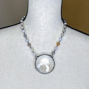 Chandelier Faced Glass Pendant